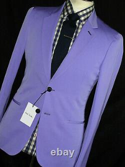 Bnwt Rare Mens Luxury Paul Smith Soho London Lilac Slim Fit Suit 38r W32 X L32