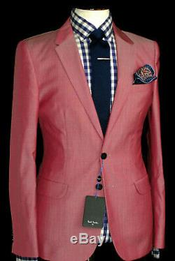Bnwt Rare Mens Paul Smith Ps London 2019 Collection Pink Slim Fit Suit 40r W34
