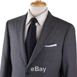 Boglioli Slim-Fit'Sforza' Solid Medium Gray Woven Wool Suit 42R (Eu 52)