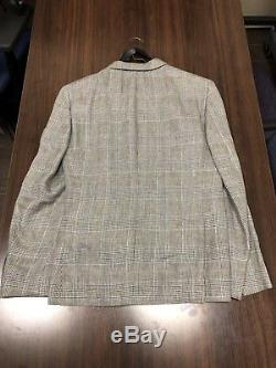 Bonobos Men's Peak Lapel Slim Fit Light Gray Stretch Wool Suit 40S, 31 pants