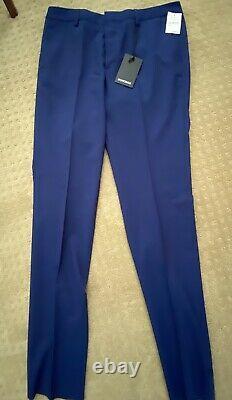 Bonobos Mens Simon Brilliant Navy Slim Fit Suit Jacket And Pants 40L / 34 Pant