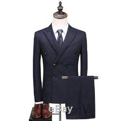 Brand New Double Breasted Suit Mens (UK36) Slim fitting 30 waist Kingsman