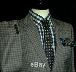 Brand New Mens Paul Smith London Gingham Check Tailor Made Slim Fit Suit 40r W34