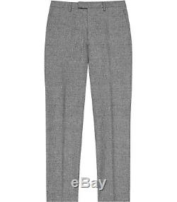 Brand New Reiss'Bribe' Mottled Weave Double Breasted Slim Fit Suit UK40 W34
