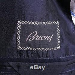 Brioni Suit Size 42 L Slim Fit Centenario Navy Blue Pinstripe Flannel Wool
