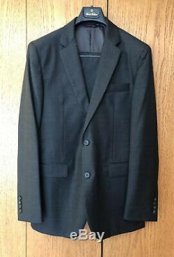 Brooks Brothers 1818 Milano 40R, 34W 100% Wool SLIM FIT Mens suit