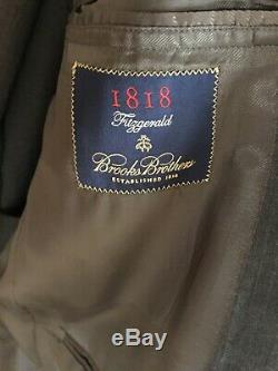 Brooks Brothers Charcoal Gray Fitzgerald Slim Fit 100% Wool Suit, 42 R 36 W