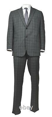 Brooks Brothers Mens Dark Gray Plaid Regent Fit Two Piece Suit Sz 40R 33W 0647-1