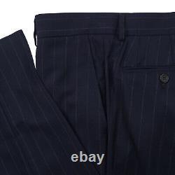 Brunello Cucinelli Slim-Fit Navy Blue Stripe Wool-Silk Suit 40R (Eu 50) NWT
