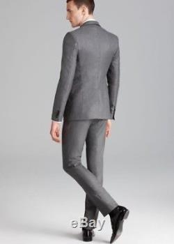 Burberry London 135015 Men's Slim Fit Dark Grey Suit 2 Piece sz. 48 S/US 38