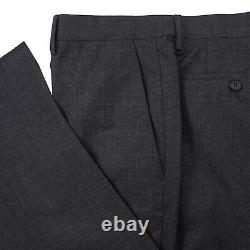 Burberry London Slim-Fit Essential Solid Charcoal Gray Wool Suit 44 (Eu 54)