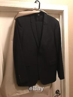 Burberry London Virgin Wool Slim Fit Suit in Black 54R/44R