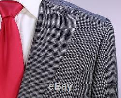 CANALI 1934 Current Model Gray Woven 2-Btn Slim Fit Peak Lapel Wool Suit 36S
