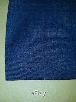 CANALI 1934 Dark Blue Slim Fit Wool Suit (56L Drop 7) 44/46L 37x33 Flat Front