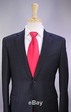 CANALI 2017 Model Gray/Black Plaid Slim Fit Tailored 2-Btn Wool Suit 38S