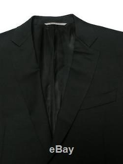 CANALI BLACK 100% Virgin Wool Suit Size US38S EU48C Slim Fit Italy NEW