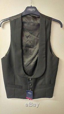CHARLES TYRWHITT Merino Wool Extra Slim Fit 3 Piece Dinner Suit Size 38S W32 L30