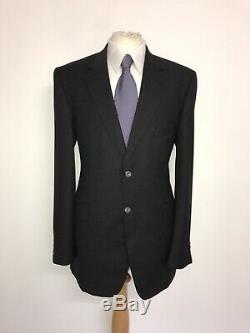 CROMBIE Mens Tailored Fit DARK GREY Super 110s WOOL SUIT 42 Long W34 L36