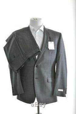 Calvin Klein Mens Slim Fit Gray Pin-dot 2 Button 100% Wool Suit 40R 34W