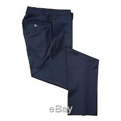 Canali Men's Two Button Blue Slim Fit 100% Wool Suit US 34 EU 44
