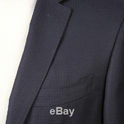Canali Men's Two Button Navy Blue Slim Fit 100% Wool Suit US 36 EU 46