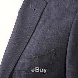 Canali Men's Two Button Navy Blue Slim Fit 100% Wool Suit US 38 EU 48