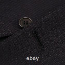 Canali Slim-Fit Burgundy and Blue Patterned Wool Suit 40R (Eu 50) NWT