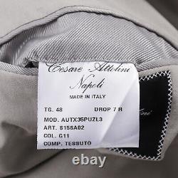 Cesare Attolini Slim-Fit Light Gray Lightweight Silk Suit 38R (Eu 48)