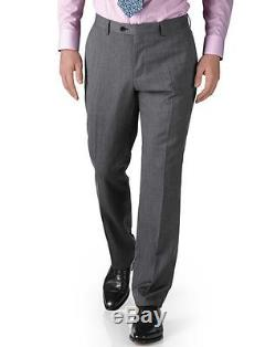 Charles Tyrwhitt New 3 Piece Luxury Slim Fit Suit Light Grey Twill Suit 40R