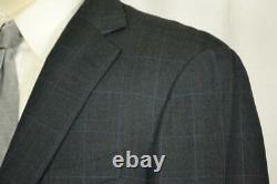 Current $2695 Ermenegildo Zegna Mila Fit 2BTN Grey Shadow Plaid SUIT Trim 44 R