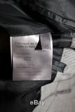 DIOR HOMME 2007 Hedi Slimane Blazer Suit Jacket Paint Splatter Slim Fit 46 Italy