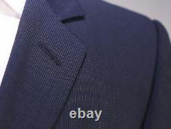DIOR Homme Navy Blue Thin Striped 3-Btn Slim Fit Wool Suit Eu 46R US 36R