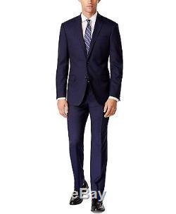 DKNY Men's Tic Slim Fit Suit Fit 2 Button Side Vent Wool DEKA2012Y1019 Blue