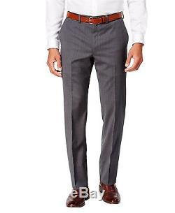 DKNY Slim Fit 2 Piece Men's Suit 100% Wool 2 Button Mini Check A212Y1060 Gray