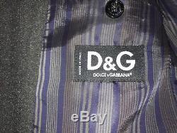 DOLCE & GABANNA -Mens Slim Fit DARK GREY SUIT 44 Long W36 L34 GORGEOUS