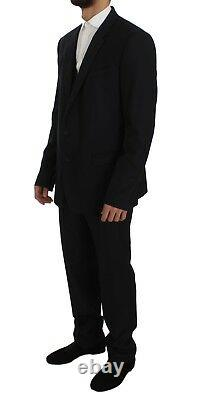 DOLCE & GABBANA Suit 3 Piece Blue Fantasy Wool Slim Fit EU56 / US46 RRP $2400