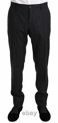 DOLCE & GABBANA Suit Blue Striped Slim Fit Wool Jacket IT48/ US38 / M RRP $2400