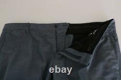 DOLCE & GABBANA Suit Light Blue Wool Stretch Gold Slim Fit IT54 / US44 RRP $1800