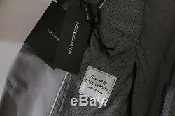 DOLCE & GABBANA Suit One Button Gray Silk Slim Fit Mens EU54/ US44 /XL RRP $3580