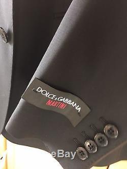 Dolce & Gabbana Martini Black Slim Fit Wool Blend Suit Brand New £1,415.00