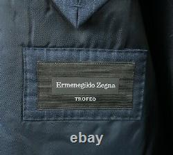 ERMENEGILDO ZEGNA TROFEO NAVY BLUE STRIPED SUIT MIL. Size EU-48 UK-38