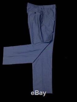 Ermenegildo Zegna Men's Blue Striped FIT-MILA Slim Fit Suit 44R 37W 33L