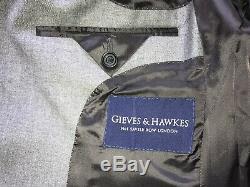 GIEVES & HAWKES Mens Slim Fit GREY WOOL SUIT 38 Reg W32 L36 BRAND NEW