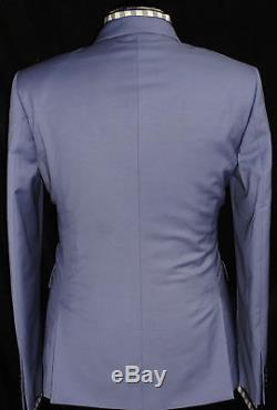 Gorgeous Bnwt Mens Paul Smith London 100% Wool Slim Fit Baby Blue Suit 44r W38