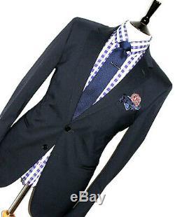 Gorgeous Luxury Mens Boggi Milano Navy Blue Slim Fit 2 Piece Suit 42r W36 X L32