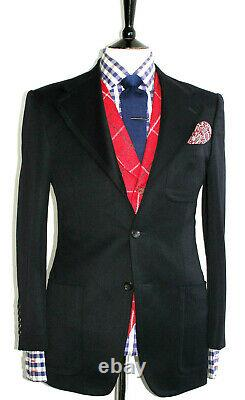 Gorgeous Rare Mens Gucci Tom Ford Black Textured Slim Fit Suit Jacket Blazer 38r