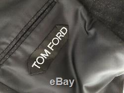 Gorgeous Tom Ford Blue Check Suit Slim Fit Peak Lapel Jacket Uk 38 Eu 48