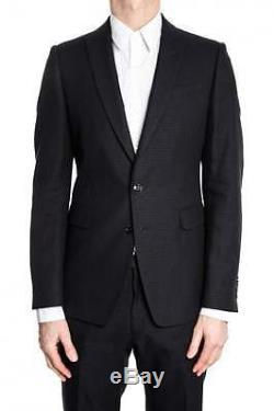 Great Condition 2016 Dries Van Noten dark blue suit slim fit, small 48