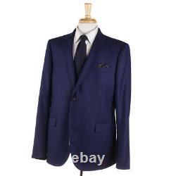 Gucci Solid Blue Slim-Fit'Monaco' Flannel Wool Suit 46 R (Eu 56) NWT