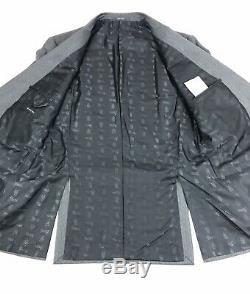 Gucci Tom Ford Mens Grey Striped Silk Blend Slim Fit Suit 40R 34W 33L